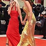 Pictured: Donatella Versace and Irina Shayk