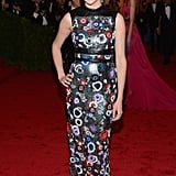 Shailene Woodley in Floral Christopher Kane Gown at the 2012 Met Gala