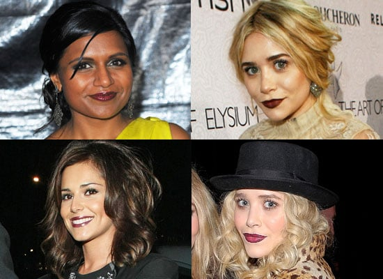 Blood Red Lipstick, Ashley Olsen Lipstick, Mary Kate Olsen Lipstick, Mindy Kaling Lipstick, Cheryl Cole Lipstick