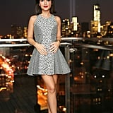 At New York's Standard Hotel, Miroslava Duma took in the city's view with Pharrell WIlliams and Daniel Arsham.