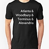 The Walking Dead Locations T-Shirt