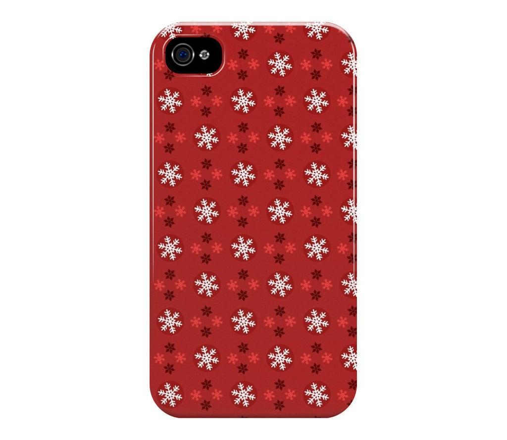 jolly snowflakes festive iphone case 8