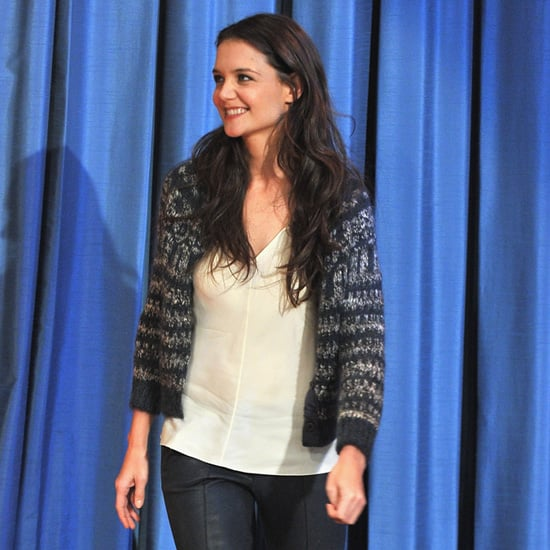 Katie Holmes Wearing Bow Pumps