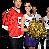 Katy Perry smiled with Cory Monteith backstage at the 2010 Teen Choice Awards following a performance together.