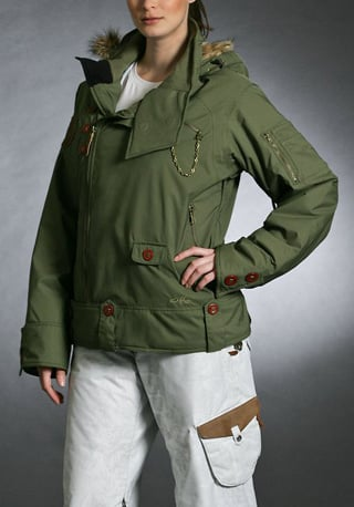 Gretchen Bleiler Mane Eco Jacket, green ($330)