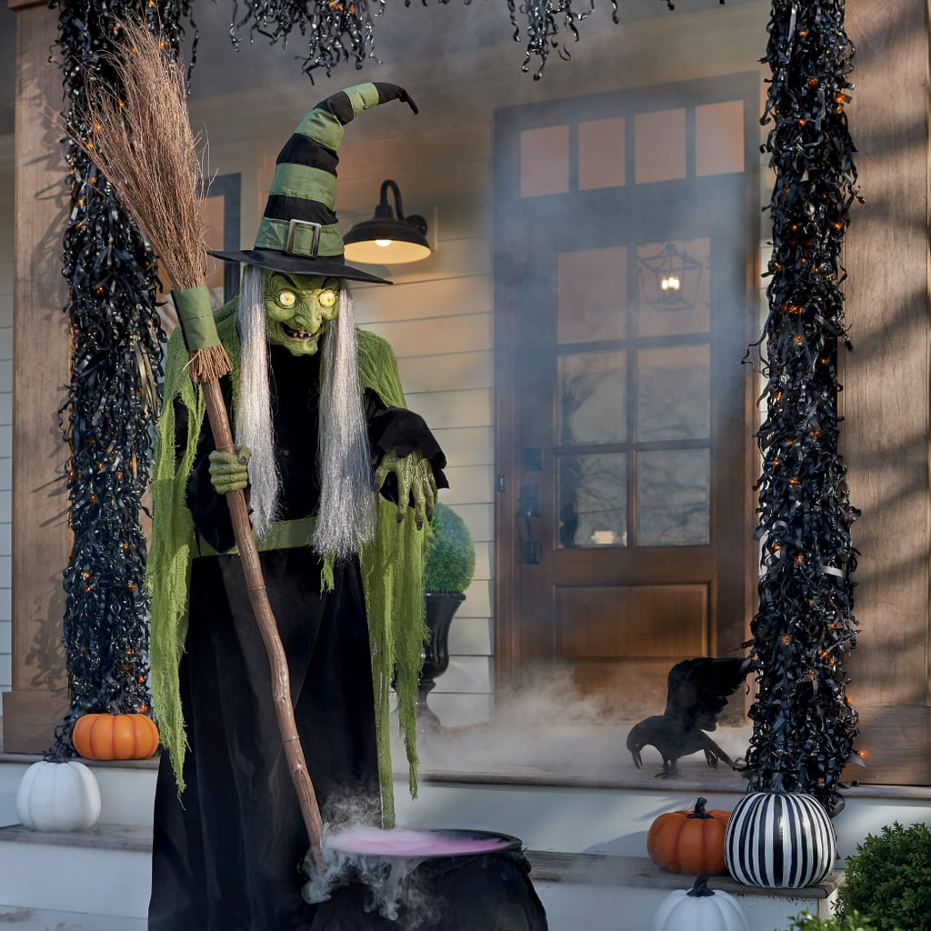 Halloween Decorations Home: Animated Wilma Witch With Broom