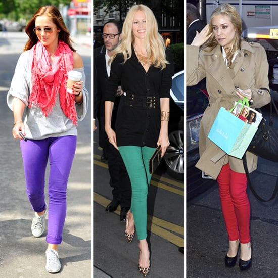 Celebrities in Colored Jeans