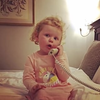 Video of Toddler Rambling on the Phone