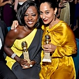 In 2017, Viola Davis and Tracee Ellis Ross happily posed with their trophies at an afterparty.