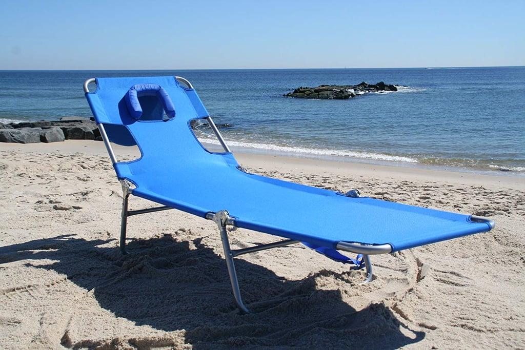 Beach Chair With a Face Hole