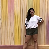 Take a photo in front of the popsicle-stick wall outside the exit of Toy Story Mania.