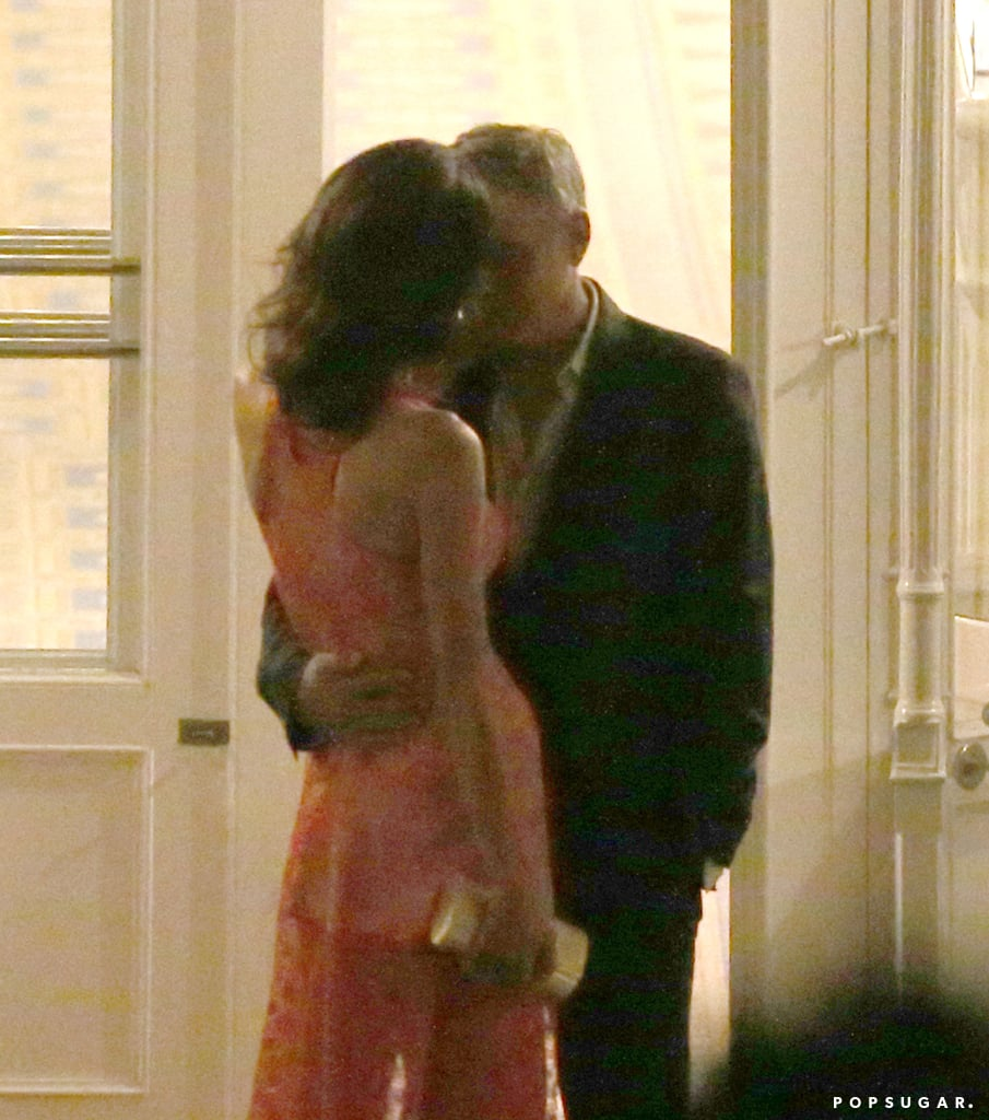 George Clooney And Amal Alamuddin Pda In Italy Pictures Popsugar Celebrity