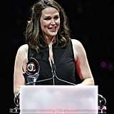 Jennifer Garner accepted the award for female star of the year at the CinemaCon awards ceremony in Las Vegas.