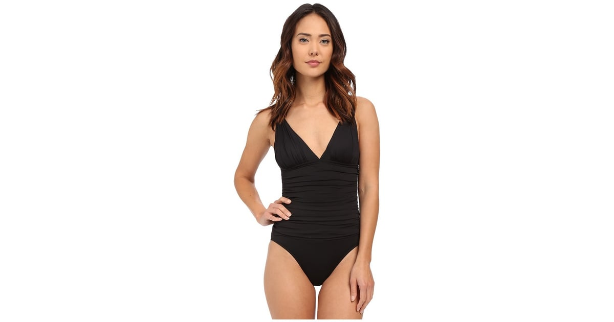 Lauren Ralph Lauren Beach Club OTS Loop Mio ($111) | Sofia Vergara\u0027s  One-Piece Swimsuits December 2016 | POPSUGAR Latina Photo 7