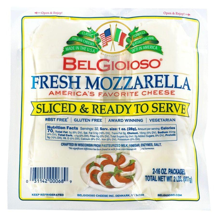 BelGioioso Cheese Mozzarella Fresh Slices ($10)
