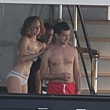 Lily Cole and Jack Dorsey's Beach Vacation