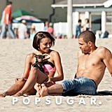 Kat Graham relaxed on the beach with her fiancé, Cottrell Guidry.