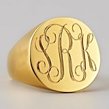 Sarah Chloe Monogrammed Signet Ring