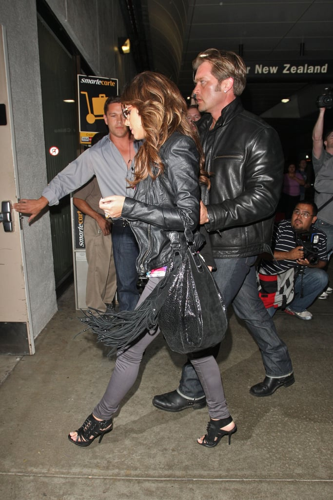 Pictures of Cheryl Cole Leaving LA