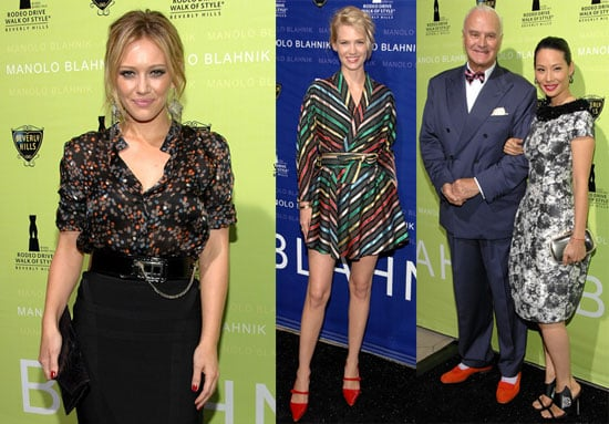 Photos of Hilary Duff, Lucy Liu and January Jones at Rodeo Drive Manolo Blahnik Party
