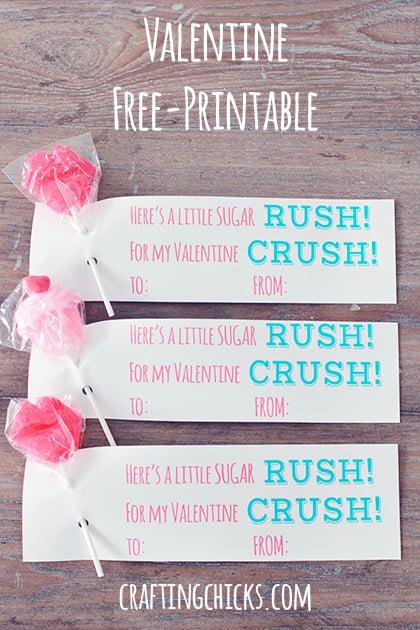 Sugar Rush Valentine's Printable