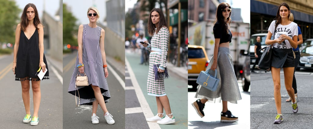 How to Wear Sneakers With Skirts and Dresses