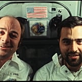 Astronauts taking selfies before they were a thing.