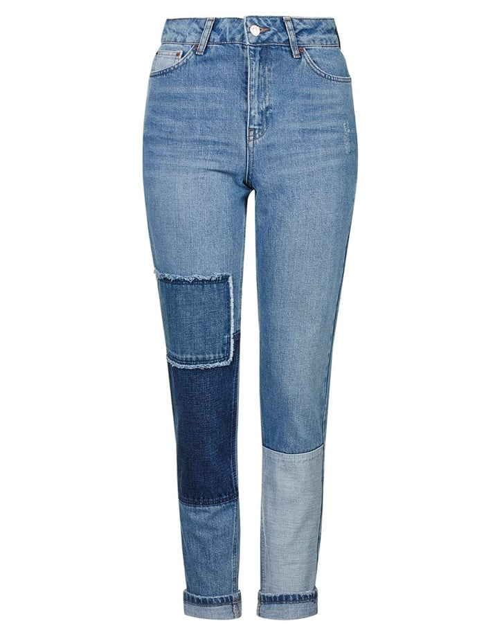 Topshop Moto Patchwork Mom Jeans ($75)