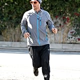 Matthew jogged solo for a bit.