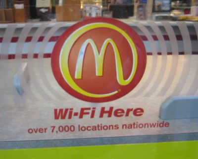 Hamburger, Fries and a Side of WiFi