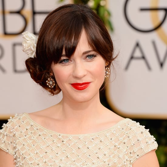 Zooey Deschanel at the Golden Globe Awards 2014