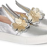 Minna Parikka Silver and Gold Clover Sneakers (£275)