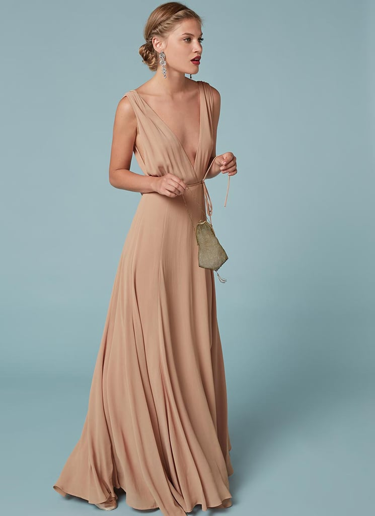 Dianna Agrons Reformation Bridesmaid Dress 2016