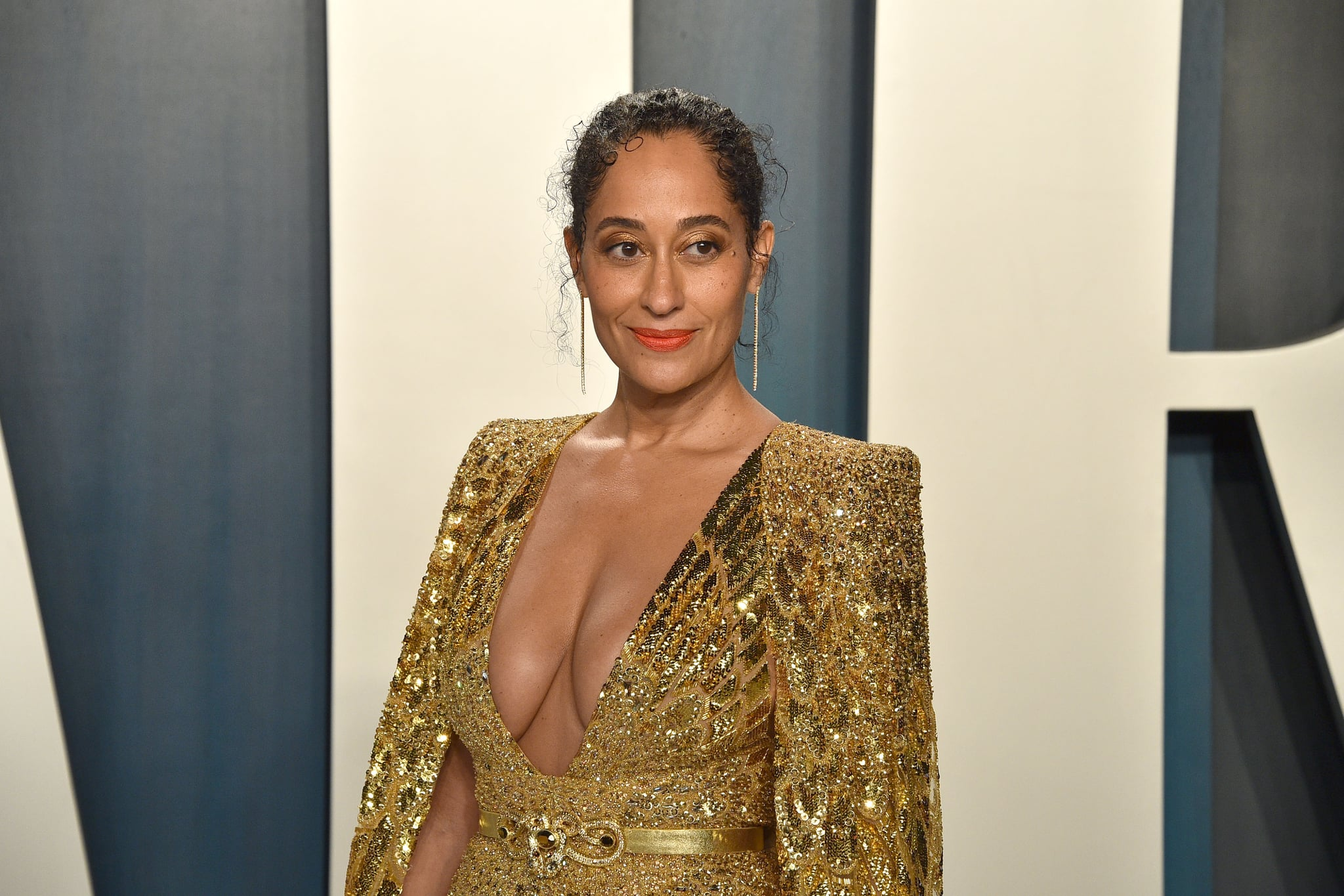 BEVERLY HILLS, CALIFORNIA - FEBRUARY 09: Tracee Ellis Ross attends the 2020 Vanity Fair Oscar Party at Wallis Annenberg Centre for the Performing Arts on February 09, 2020 in Beverly Hills, California. (Photo by David Crotty/Patrick McMullan via Getty Images)