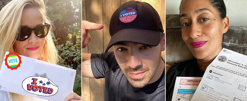 Celebrities Voting in the 2020 Presidential Election Photos