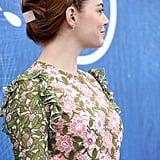 Emma Stone's Braided Updo at the 2016 Venice Film Festival