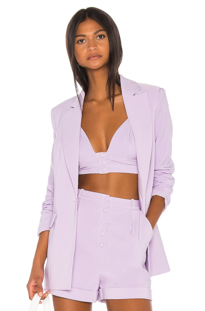 Song of Style Dakota Blazer in Lilac Purple from Revolve.com