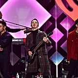 The Jonas Brothers at iHeartRadio's Jingle Ball in NYC