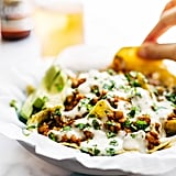 Spicy Lentil Nachos With Three-Cheese Sauce
