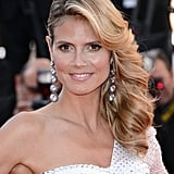Heidi Klum's sweeping, undercut style was a hit at the premiere of Nebraska.
