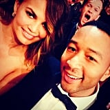Neil Patrick Harris had an epic photobomb in Chrissy Teigen and John Legend's selfie at the Grammys. Source: Instagram user chrissyteigen