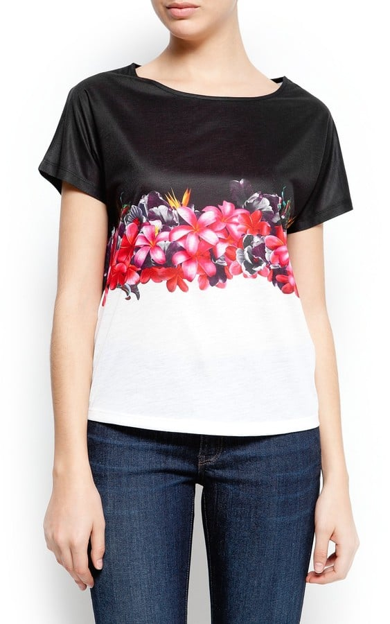 Prints for beginners: dip your toe into the trend with Mango's Floral-Print T-Shirt ($30).