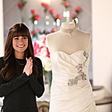 Rachel helps with the dress shopping.