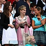 Back in 2008, Sophie accompanied Kate to Wimbledon when she and Will were still just dating.