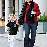 Jennifer Garner and Violet Affleck had a smiley day in LA.