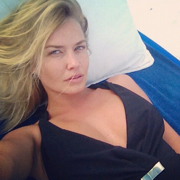 Lara Bingle worked a Zimmermann one-piece while on holiday in Mexico. Source: Instagram user mslbingle