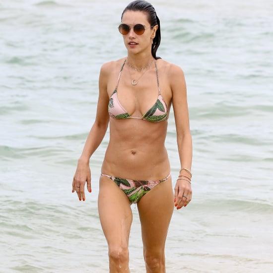 Alessandra Ambrosio Leaf-Print Bikini