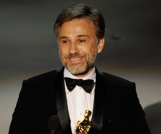 Slide Photo of Christoph Waltz Winning an Oscar