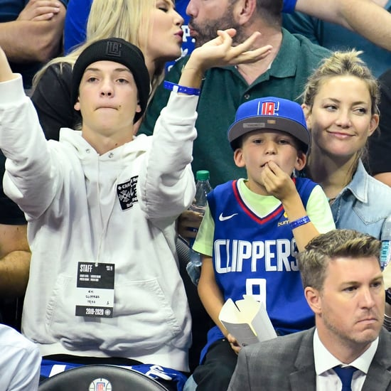 Kate Hudson at Los Angeles Clippers Game With Kids