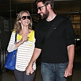 Emily and John Bring Fresh-From-Vacation PDA Back to LA